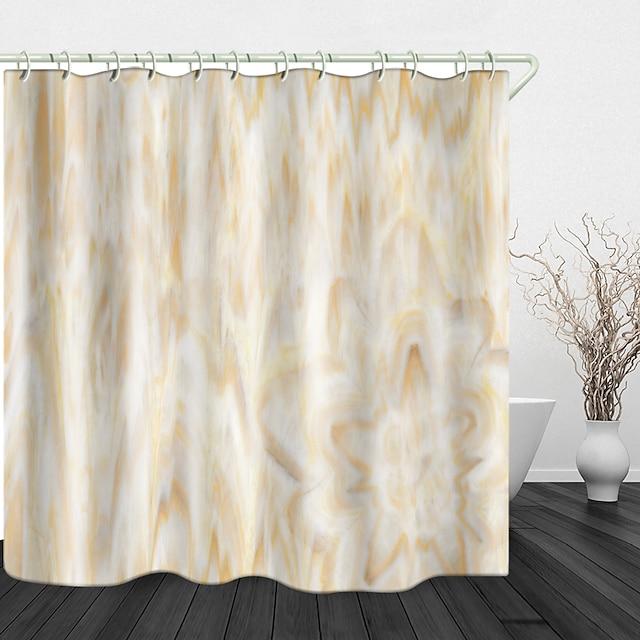 flores em mármore impressão digital cortina de chuveiro cortinas de chuveiro ganchos poliéster moderno novo design