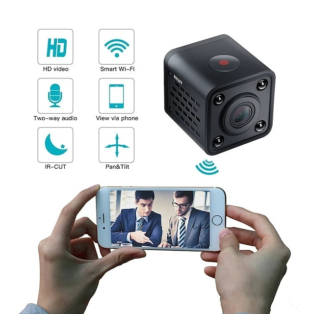 WIFI Mini IP Camera HDQ9 Night Vision Motion Detect 1080P HD Mini Camcorder Loop Video Recorder Built-in Battery Body Cam