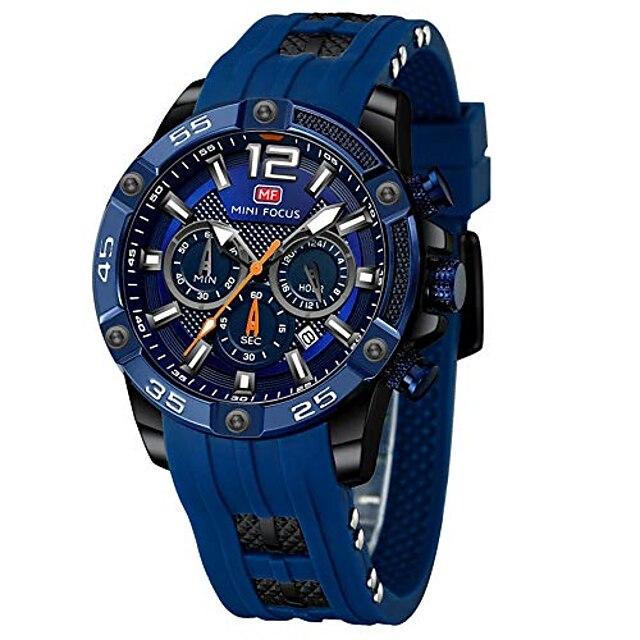 mini focus mode sport heren horloges multifunctionele waterdichte siliconen band heren quartz horloges