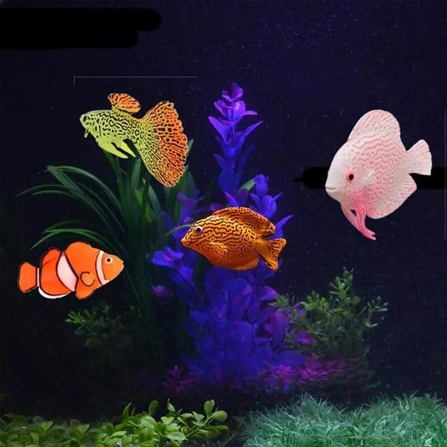 Acquario Decorazioni Acquario Vasca per i pesci Pesce finto Arcobaleno Divertente Materiale speciale 4 pezzi 2 cm