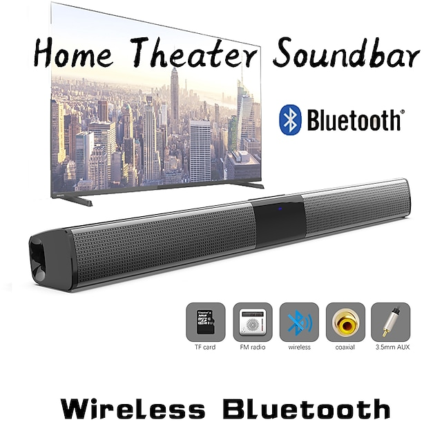 BS-28D 20W Wireless Bluetooth Speaker Soundbar Stereo Surround Sound TV Home Theater Soundbar Subwoofer with Audio Coaxial Cable