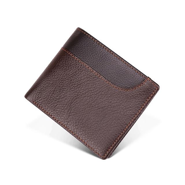 Marsupio Organizzatore di documenti Porta-carte di credito Anti-furto Blocco RFID Uso quotidiano Sicurezza vera pelle Classico Vintage ▾ Regalo Per Per donna Per uomo 10*11.5*1.5 cm