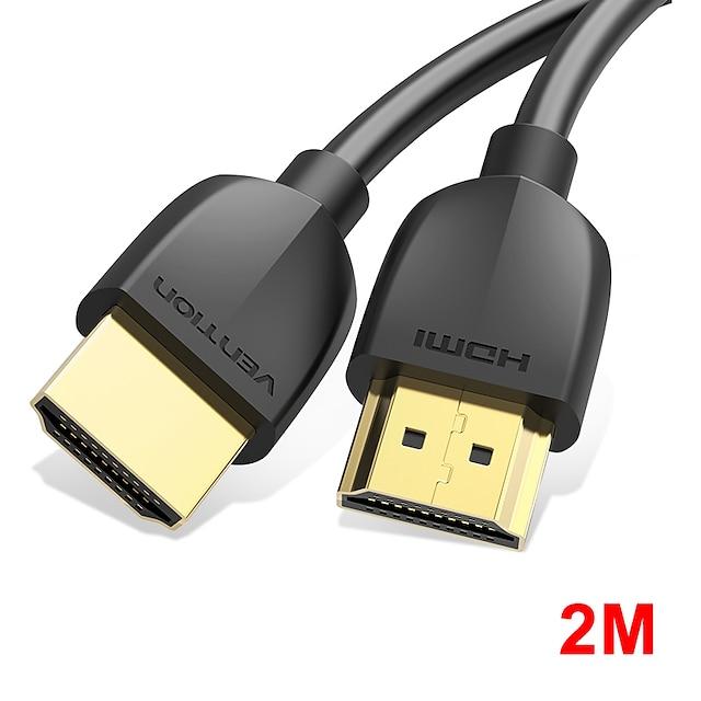 vention hdmi-совместимый кабель тонкий hdmi-совместимый с hdmi-совместимый 2.0 hdr 4k @ 60hz для сплиттера удлинитель 1080p кабель для ps4 hdtv проектор 2 м кабель hdmi-совместимый