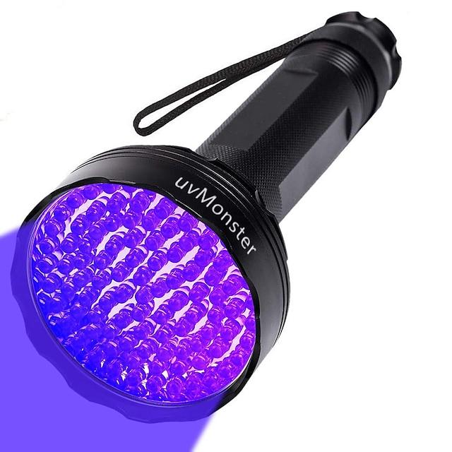 UV Flashlight นาฬิกา LED 100 อิมิเตอร์ สามารถปรับได้ ป้องกับลม พกพาง่าย ทนทาน แคมป์ปิ้ง / การปีนเขา / เที่ยวถ้ำ ใช้เป็นประจำ การตกปลา สีม่วง สีที่เป็นแหล่งกำเนิดของแสง สีดำ