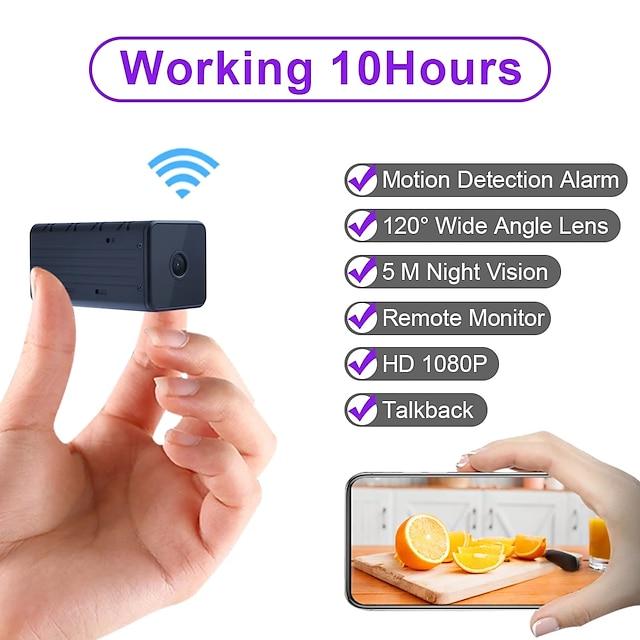 wd9 přenosná wifi ip mini kamera p2p noční vidění bezdrátová mikrokamera videorekordér podporuje vzdálený pohled na telefon