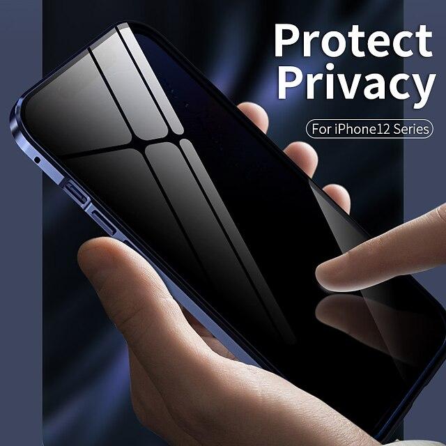 магнитный противоскользящий чехол для apple iphone 13 12 / iphone 13 12 mini / iphone 13 12 pro max противоударный / прозрачный чехол для всего тела прозрачный металл