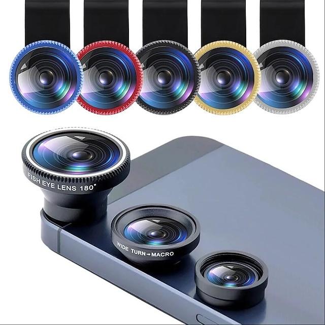 obiettivo del telefono fisheye 0.67x obiettivo zoom grandangolare fish eye 10x lenti macro kit fotocamera con lente a clip sul telefono per smartphone