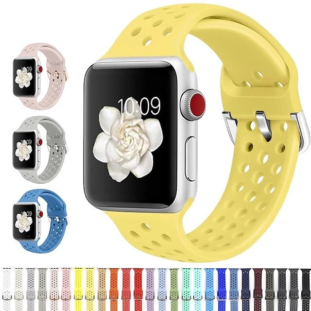 Cinturino intelligente per Apple  iWatch 1 pcs Cinturino sportivo Silicone Sostituzione Custodia con cinturino a strappo per Apple Watch Serie SE / 6/5/4/3/2/1