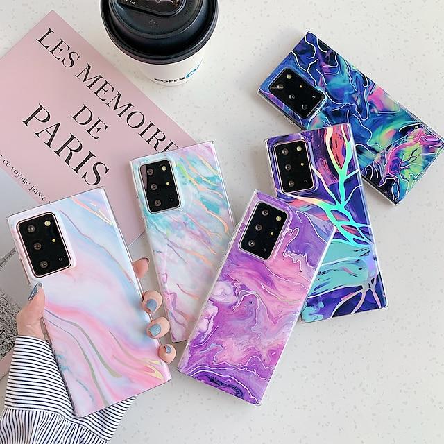 téléphone Coque Pour Samsung Galaxy Coque Arriere S20 Plus S20 Ultra S20 S9 S9 Plus S8 Plus S8 Remarque 9 Remarque 8 Note 20 Ultra Motif Marbre TPU