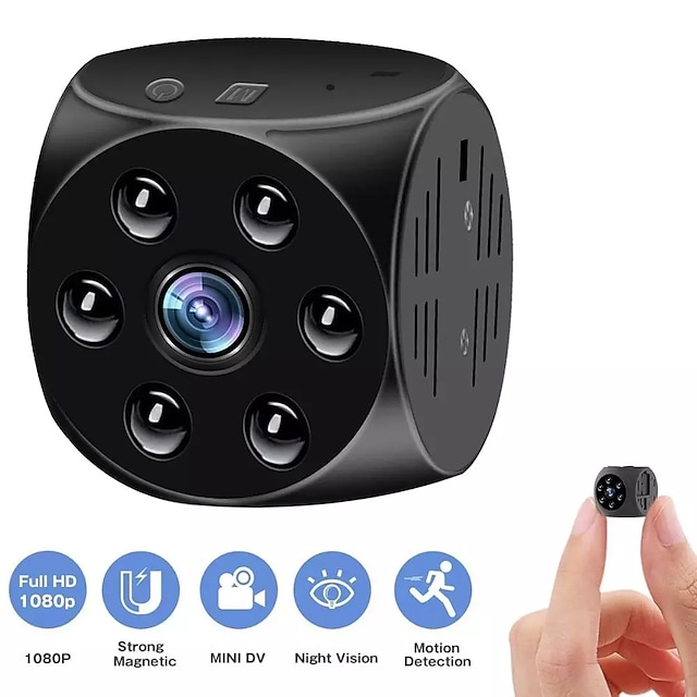 New one hour Magnetic Laptop Mini Action Camera Body DV DVR Micro Camera Voice And Video Recorder