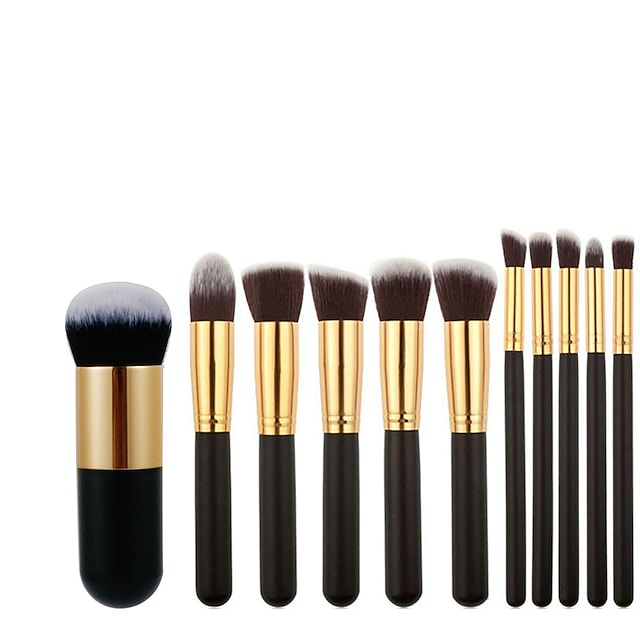 10 Pcs/11 Pcs makeup brush large version makeup brush set 5 large 5 small makeup brush Xiaopangdun foundation brush