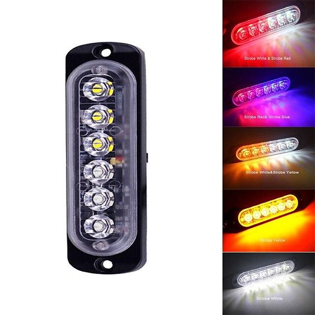 1 τεμ Μοτοσυκλέτα Αυτοκίνητο LED Φως Εργασίας Στροβοσκόπηση Φώτα προειδοποίησης Λάμπες 6 Για Universal Όλες οι χρονιές / # / IP65 / Κράμα Αλουμινίου / 12~24 / Εξοικονόμηση ενέργειας