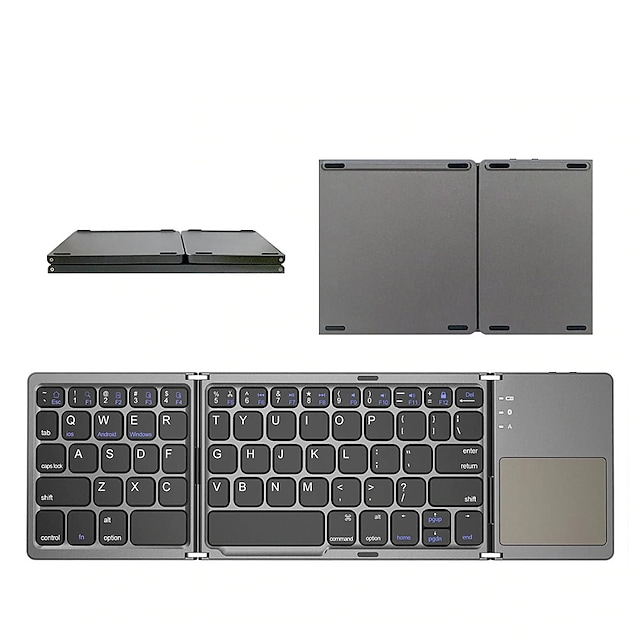 Mini folding keyboard Bluetooth Foldable Wireless Keypad with Touchpad for Windows Android Ios Tablet