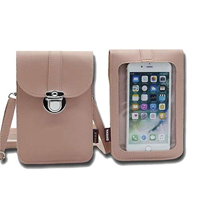 bolsa de couro leve para telefone, pequena bolsa crossbody bolsa para telefone celular mini bolsa com bela embalagem.