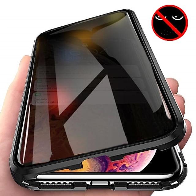 telefono Custodia Per Apple Integrale Custodia ad adsorbimento magnetico iPhone 12 Pro Max 11 SE 2020 X XR XS Max 8 7 6 Resistente agli urti Con chiusura magnetica Transparente Transparente Tinta