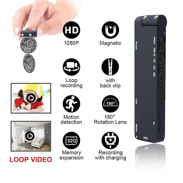 Kamera HD mini 1080p kamera noktowizyjna kamera kamera dvr kamera z mikro magnesem nagrywająca kamera wideo