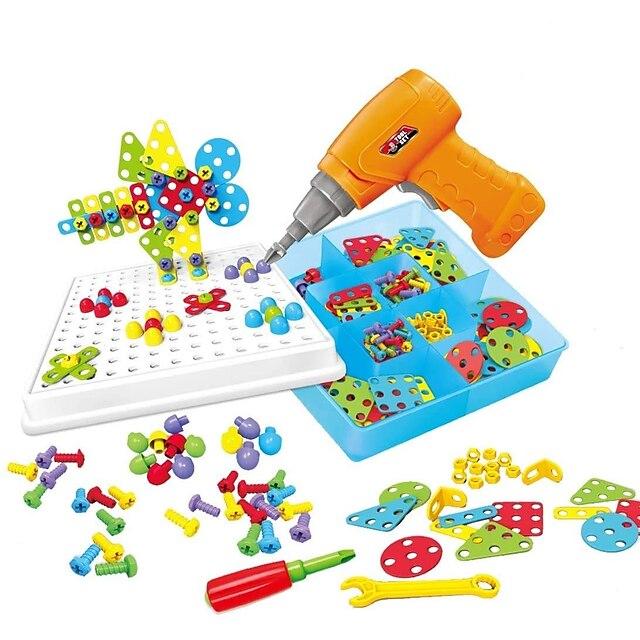 Blocs de Construction Jeu de construction Jouets Ensemble de perceuse 151 pcs Jouet Vapeur compatible ABS + PC Legoing Interaction parent-enfant Éducatif Garçon Fille Jouet Cadeau / Enfant