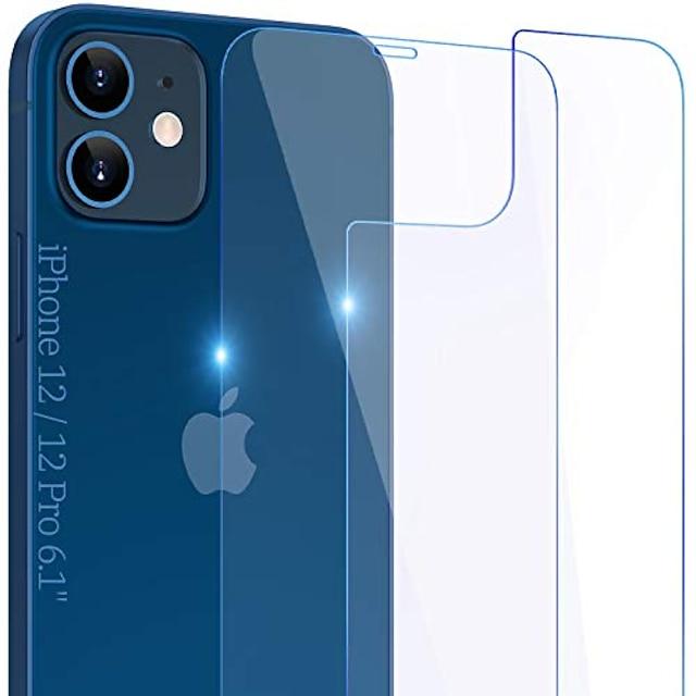 schermbeschermer voor en achter compatibel met iphone 12 / iphone 12 pro 2020, 6.1 inch gehard glas volledige beschermfolie voor accessoires, 9 uur schokbestendig, rand tot rand, case vriendelijk