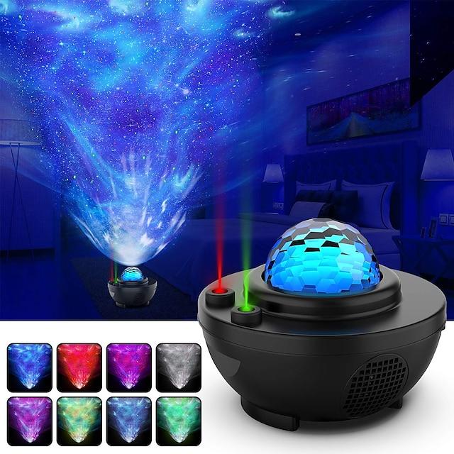 Lampe Projecteur Etoile Galaxie Projecteur Lumière Télécommandé Projecteur Star Light Télécommande Soirée Mariage Cadeau Blanc Froid