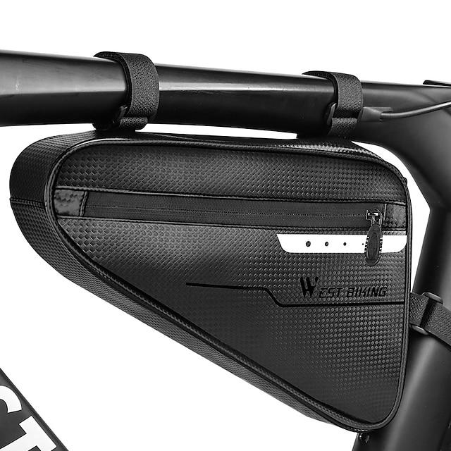 4 L กระเป๋าใส่โครงจักรยาน กันน้ำ แบบพกพา แห้งเร็ว กระเป๋าจักรยาน TPU กระเป๋าจักรยาน กระเป๋าไซเคิล ปั่นจักรยาน ออกกำลังกายกลางแจ้ง
