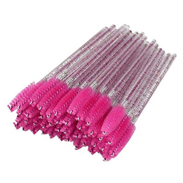 50pcs crystal eyelash brush mascara wands spoolies kit for eye lashes eyebrow extension disposable makeup brushes set