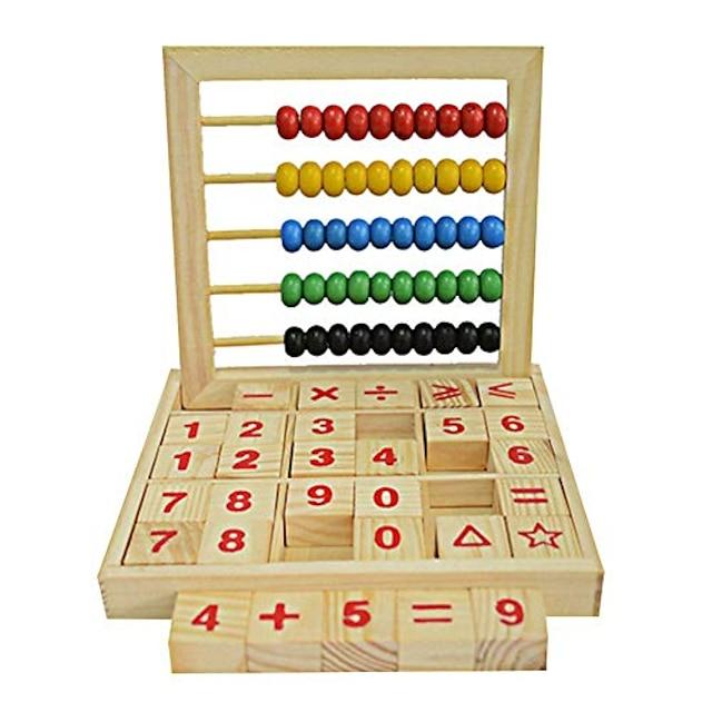 ของเล่นเด็กลูกคิดไม้เด็กนับเลขตัวอักษรตัวอักษรบล็อกของเล่นเพื่อการศึกษาการเรียนรู้& การศึกษาของขวัญกิจกรรมเล่นเวลาสนุกที่สมบูรณ์แบบสำหรับเด็กชายหญิง