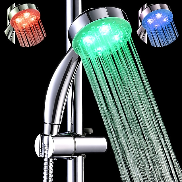 sds-a25 3 cores sensíveis à temperatura levou cor mudando chuveiro de mão