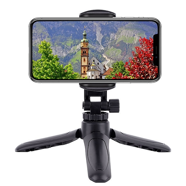 Montaje para Soporte de Teléfono Cama Escritorio Teléfono móvil Soporte para trípode de teléfono Ajustable Rotación de 360 ° ABS Accesorio para Teléfono Móvil iPhone 12 11 Pro Xs Xs Max Xr X 8