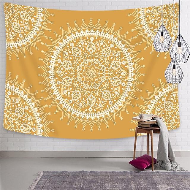 wall tapestry art decor deken gordijn opknoping thuis slaapkamer woonkamer dorm decoration polyester indian mandala bohemian psychedelic floral flower lotus