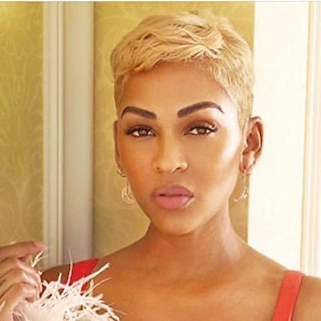 rövid szőke pixie vágott haj paróka fekete nőknek szintetikus paróka fekete nőknek afro-amerikai rövid paróka