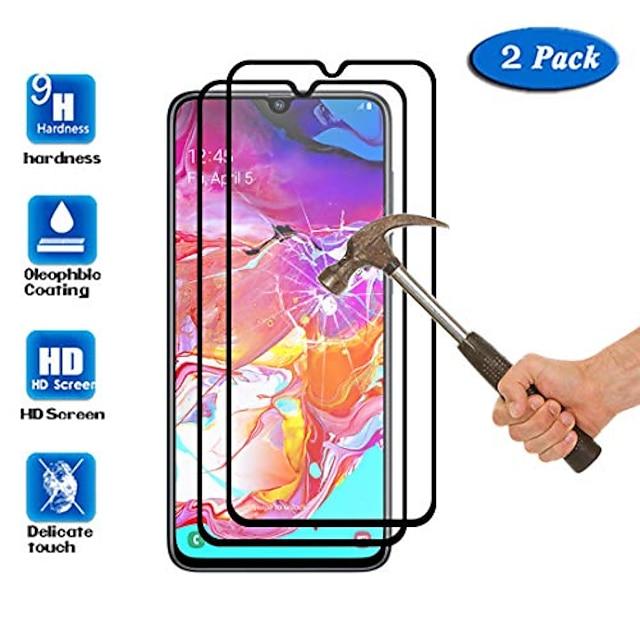 Pack de 2 Protecteurs d'écran pour Samsung Galaxy A32 / A51 / A71 9H Dureté Anti-rayures Film de protection d'écran en verre trempé à couverture complète pour Samsung Galaxy A50 A70
