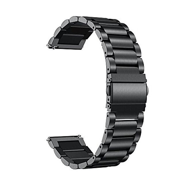 compatibel voor vivoactive 4s-banden, 18 mm roestvrijstalen metalen horlogeband met snelsluiting compatibel voor garmin vivoactive 4s (40 mm), vivomove 3s (39 mm) smartwatch, zwart