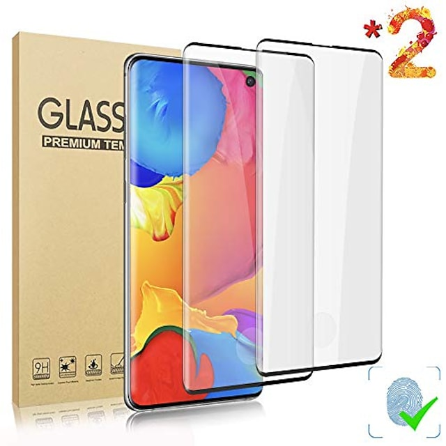 2-pack Screen Protector for Samsung Galaxy S21 5G S21 Ultra Tempered glass ,9h hardness anti scratch, 3d full coverage protective film for Samsung Galaxy S20 ultra S20+ S10 Lite S10 PLUS
