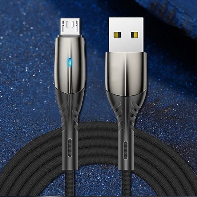 Mikro USB USB C Kabel Velika brzina Brzo punjenje Prijenos podataka 3 A 1.0m (3ft) PVC Za Xiaomi MI Samsung Huawei Privjesak za mobitel