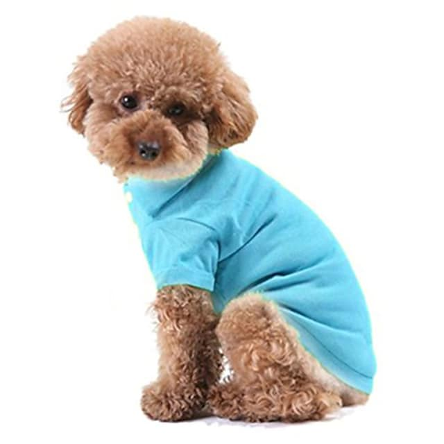 pet puppy polo t-shirt small dog shirt clothes costume apparel