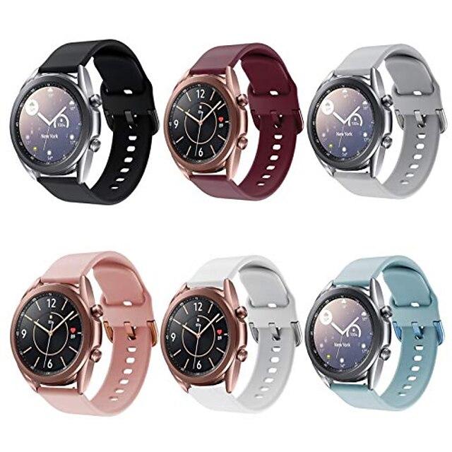 compatibile per orologio galaxy 3 cinturini da 41 mm, confezione da 6 pezzi cinturino da polso per orologio sportivo sostitutivo in silicone da 20 mm compatibile per orologio samsung galaxy 3