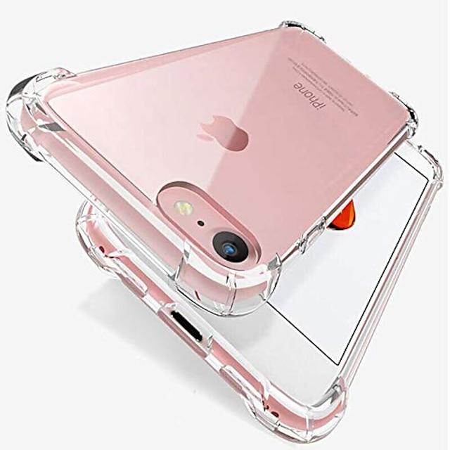 custodia compatibile con iphone se (2020) e iphone 8/7, [antigraffio] con protezione antiurto a 4 angoli custodia morbida in tpu per iphone se 2020, iphone 8 e iphone 7, 4,7 pollici (trasparente)