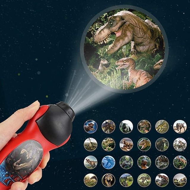 torce elettriche Luci del proiettore Dinosauro Illuminazione LED Giocattoli Strani Batterie alimentate Batteria a bottone Da bambino per regali di compleanno e bomboniere 1 pcs Da tutti i giorni