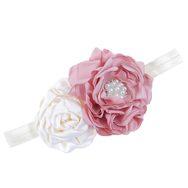 1pcs Kids / Toddler Girls' Active White Floral Polyester Hair Accessories Purple / Blushing Pink / White One-Size