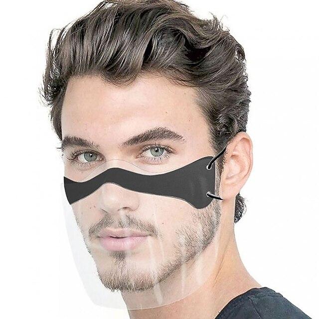 10 pcs masque facial anti-éclaboussures jetable transparent masque de protection anti-poussière masque pour adulte