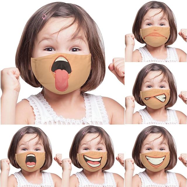 2 pièces expression de la personnalité drôle masque de commerce extérieur enfants adultes impression numérique un masque personnalisé