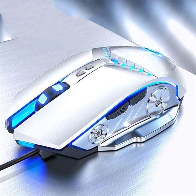 souris de jeu souris d'ordinateur filaire 3500 dpi mouvement rapide ergonomique optique respiration lumière souris mécanique ordinateur portable pc souris