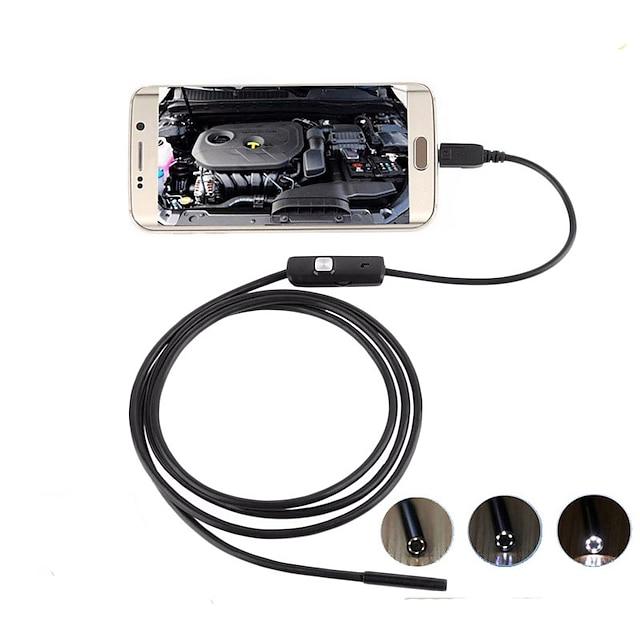 1,3 milhões 5,5 mm Android endoscópio industrial tubo de reparo automático desbloqueando ar condicionado micro câmera 2m