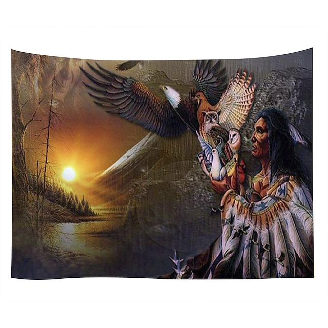 Tapisserie murale art décor couverture rideau pique-nique nappe suspendu maison chambre salon dortoir décoration polyester anciens indiens