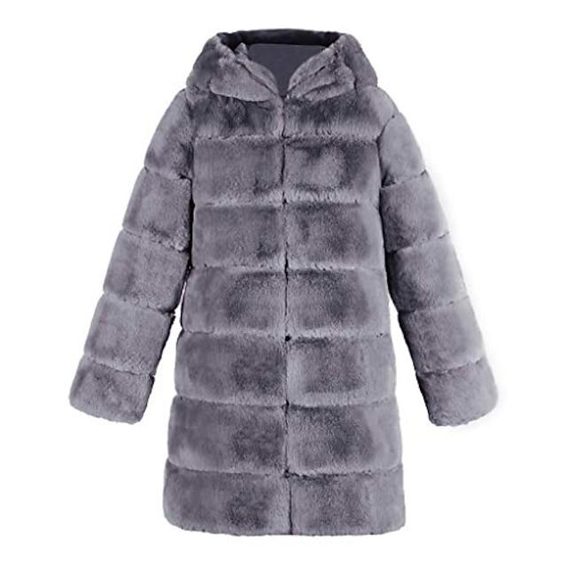 eleganta kvinnors konstgjorda fuskpäls mjuk varm ärmlös vest västjacka gilet outwear coat (2xl, grå 4)