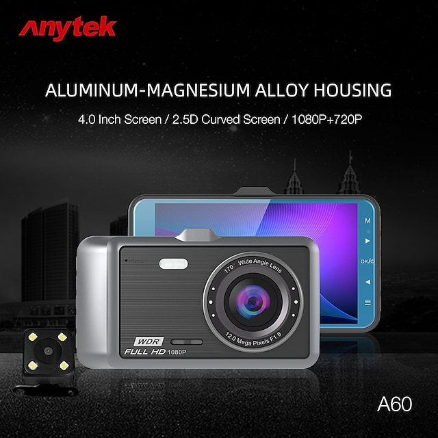 Anytek A60 1080p Boot automatic recording Car DVR 170 Degree Wide Angle Dash Cam with Car Recorder