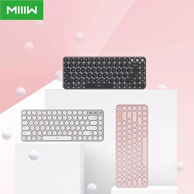 Xiaomi MWXKT01 Wireless Bluetooth USB Wired Dual Mode Office Keyboard Slim 85 pcs Keys