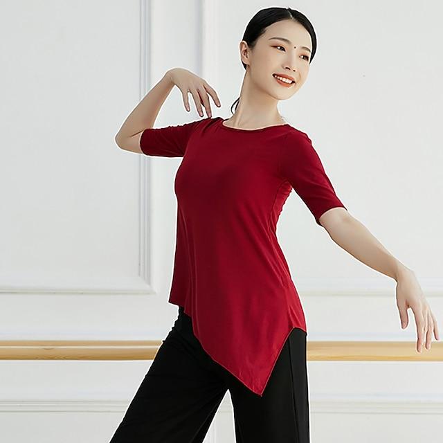Activewear Top Solid Women's Training Performance Half Sleeve Modal