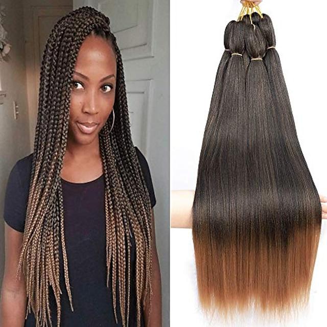 8 pieces pre-stretched braiding hair perm 26 inches synthetic fiber braid hair free hot water setting crochet braiding hair extension (1b/30)