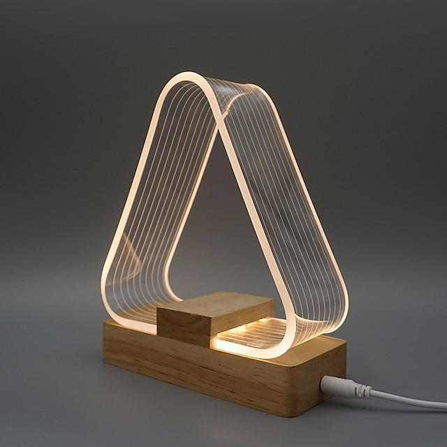 Bordlampe Omgivende lamper / Dekorativ Moderne Moderne USB-drevet Til Læseværelse / Kontor / Kontor Træ / bambus DC 5V